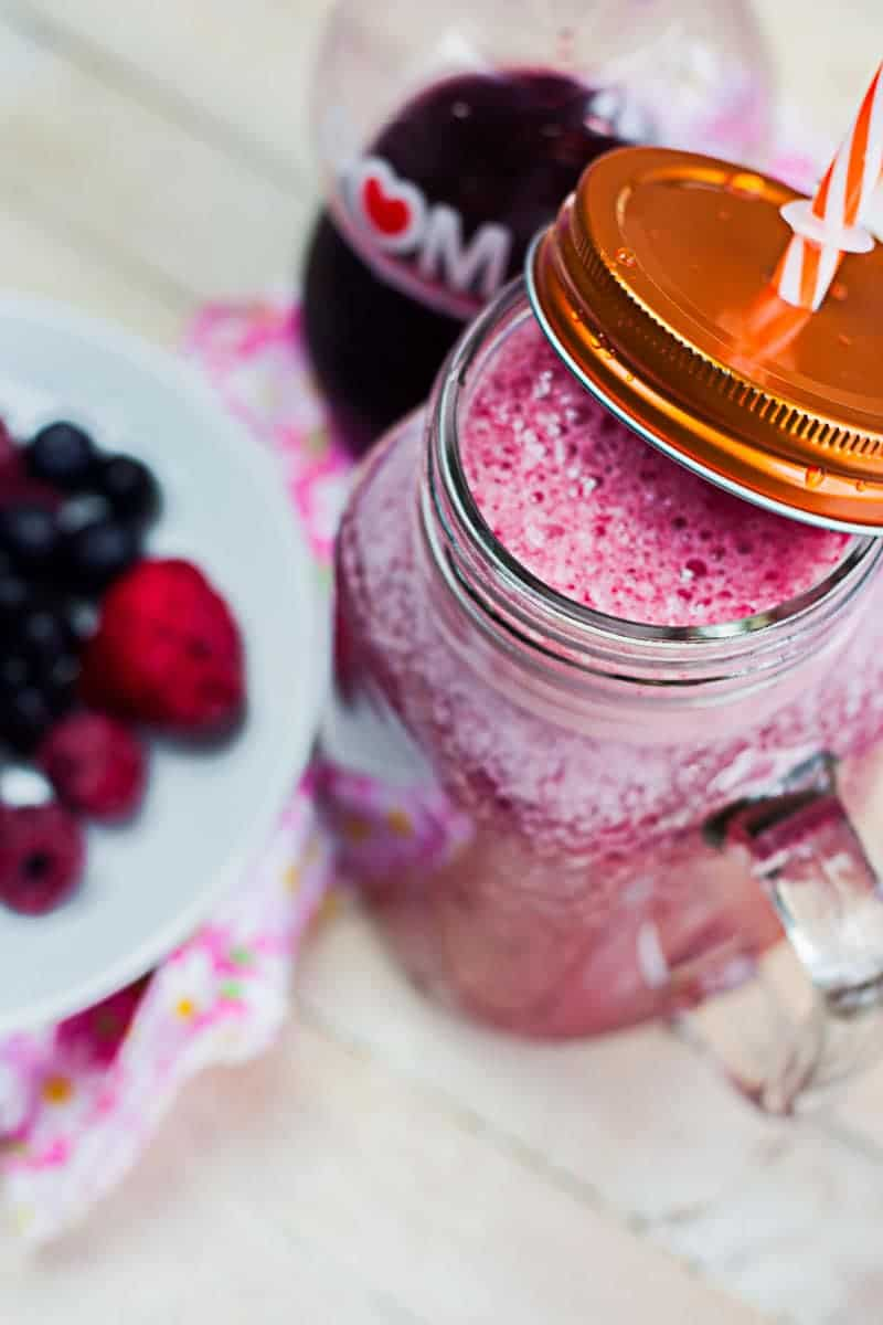 Grape Mixed Berry Lemon Smoothie