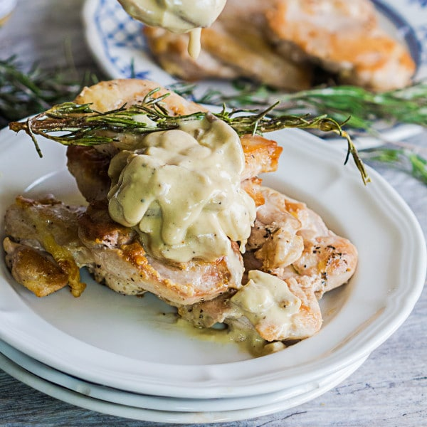 Rosemary Chicken with Dijon Mushroom Sauce