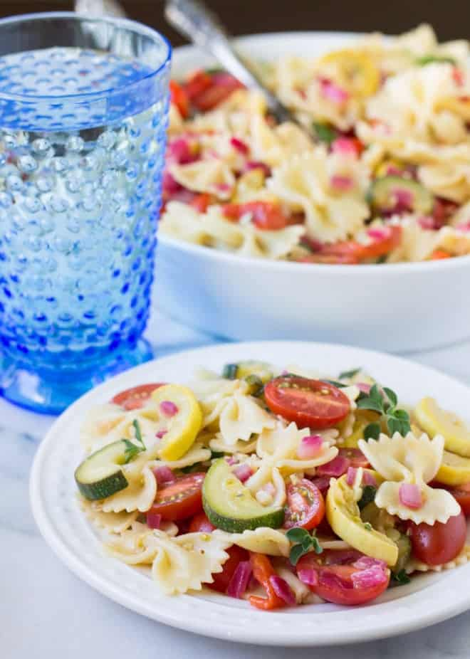 Pasta-Salad-with-Zucchini-Tomatoes-and-Roasted-Red-Peppers-C