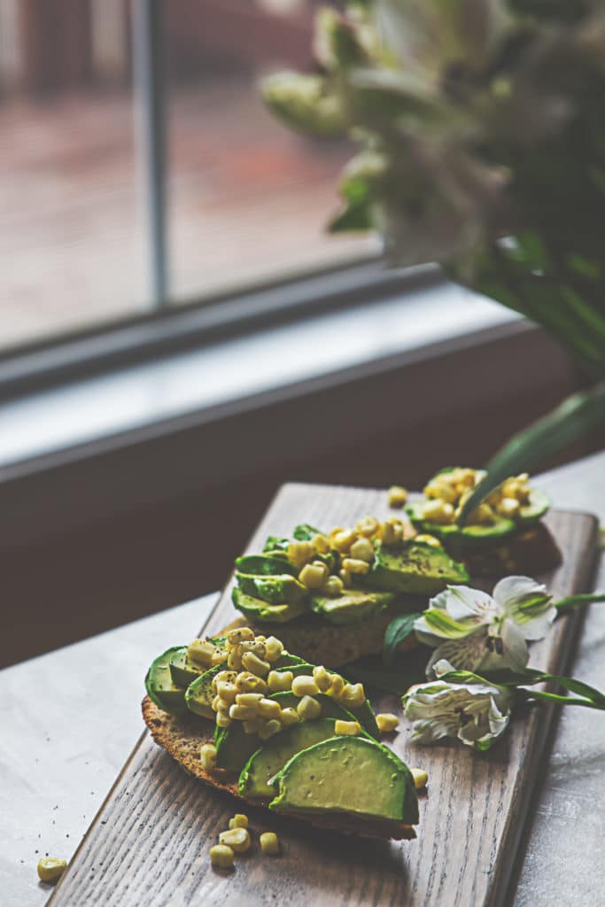 Avocado Toast with Citrus Corn Salsa